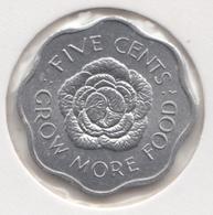 @Y@    Seychellen  5  Cents  1972     Unc    (1436) - Seychelles