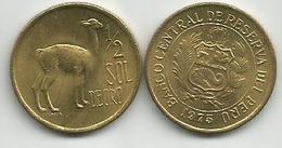 Peru 1/2  Sol De Oro 1975. High Grade - Peru