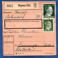Colis Postal  -  Départ Hagenau  - 25/1/1943 - Allemagne