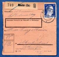 Colis Postal  -  Départ Munster  - 21/9/1943 - Allemagne