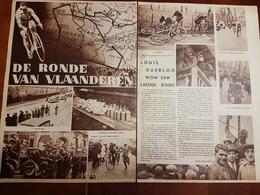 De Ronde Van Vlaanderen Wielrennen Wielrenner Coureur Constant Huys Uit Heffen :2 Blz Uit Oud Tijdschrift: Ons Land 1934 - Sports