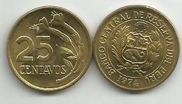 Peru 25 Centavos 1974. - Pérou