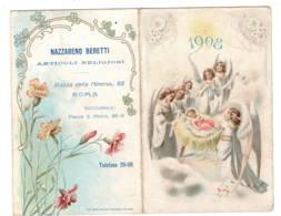 Calendrier 1908 Italie  NAZZARENO BERETTI - Petit Format : 1901-20
