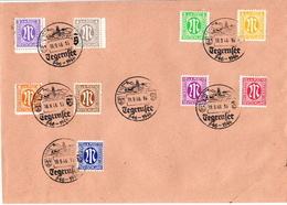 Germany 10 Allied Occupation Covers With 36 Stamps And Tegernsee Cancel From September 1946 - American,British And Russian Zone