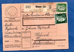 Colis Postal  -  Départ Altweier  -  15/6/1943  Avec Rabat - Allemagne