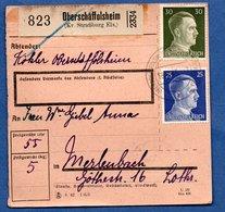 Colis Postal  -  Départ Oberschaffolsheim  - 20/9/1943 - Allemagne