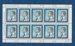 Chanteur - Tino  ROSSI  - 1969 - Feuillet De 10 Vignettes  Gommées - Ed Arcote - Chanteurs