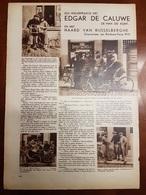 Dendermonde Edgar De Caluwe & Naard Van Rijsselberghe Wielrenner Coureur  :1 Blz Uit Oud Tijdschrift: Ons Land 1935 - Sports