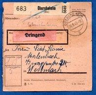 Colis Postal  -  Départ Oberehnheim  -  24/9/1943 - Allemagne