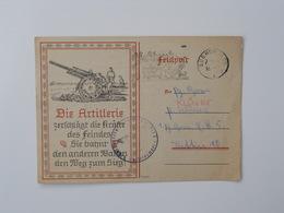 Fieldpost, Feldpost, German Artillery - Militaria