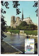 Carte Maximum PARIS Cathédrale NOTRE DAME En 1989 - Cartoline Maximum