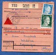 Colis Postal  -  Départ Forbach  -  11/6/1943 - Allemagne