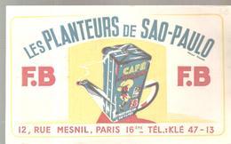 Buvard Café Les Planteurs De SAO-PAULO - Café & Thé