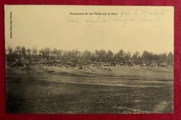 737- CPA MILITARIA GUERRE 1914-18 CAMPEMENT POILUS SUR LE FRONT MARBOTTE MEUSE CAMP SAULNIER ETANG DE RONVAL - France