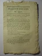 BULLETIN DES LOIS De 1811 - COMMERCE BOUCHERIE BOUCHER SEINE - SUPPRESSION IMPRIMEURS PARIS - MAGISTRAT PO ITALIE - Décrets & Lois