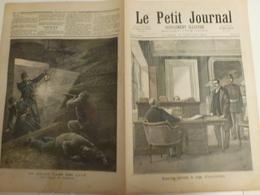 Journal Le Petit Journal 60 16 Janvier 1892 Anastay Devant Le Juge D'Instruction Drame Dans Une CaveTrésauvaux - 1850 - 1899
