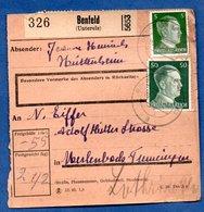 Colis Postal  -  Départ Benfeld  -  05/3/1943 - Allemagne