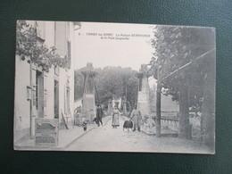 CPA 64 CAMBO LES BAINS LA MAISON BERRHONDE ET LE PONT SUSPENDU ANIMEE - Cambo-les-Bains
