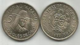 Peru 5 Soles De Oro 1977. High Grade - Peru