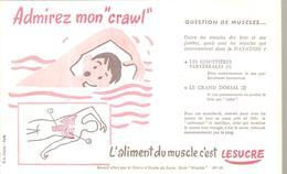 Buvard  N°10 Admirez Mon Crawl L'aliment Du Muscle C'est Le Sucre - Alimentaire