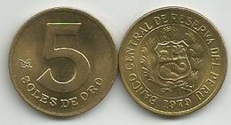 Peru 5 Soles De Oro 1979. High Grade - Pérou