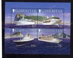 GIBRALTAR GIBILTERRA 2006 CRUISE SHIPS NAVI DA CROCIERA BLOCK SHEET BLOCCO FOGLIETTO BLOC FEUILLET MNH - Gibilterra