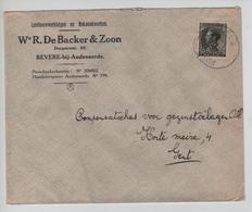 PR6318/ TP 401 Léopold III S/L.Entête De Backer&Zoon Bevere-bij-Audenaerde C.Ambulant Poperinghe-Brussel 2 1935 V.Gent - Postmark Collection