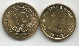Peru 10 Soles De Oro 1984. High Grade - Peru