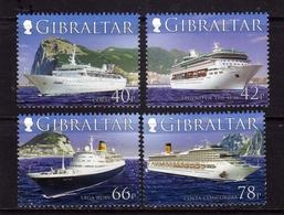 GIBRALTAR GIBILTERRA 2006 CRUISE SHIPS NAVI DA CROCIERA COMPLETE SET SERIE COMPLETA MNH - Gibilterra