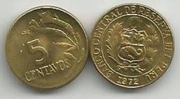 Peru 5 Centavos 1972. - Pérou