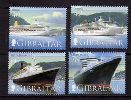 GIBRALTAR GIBILTERRA 2007 CRUISE SHIPS NAVI DA CROCIERA COMPLETE SET SERIE COMPLETA MNH - Gibilterra