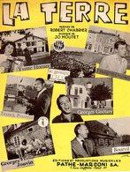 PARTITION LA TERRE - BOURVIL / POURCEL / HORNER / GUETARY / JOUVIN / DEGUELT / JO MOUTET - 1961 - EXC ETAT COMME NEUVE - Musique & Instruments