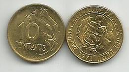 Peru 10 Centavos 1971. - Pérou