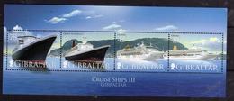 GIBRALTAR GIBILTERRA 2007 CRUISE SHIPS NAVI DA CROCIERA BLOCK SHEET BLOCCO FOGLIETTO BLOC FEUILLET MNH - Gibilterra