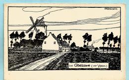 GELUWE Molen - Feldpostkarte - Wervik