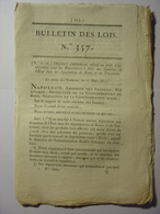 BULLETIN DES LOIS DE 1811 - REPARATIONS ROME TRASIMENE ITALIE - UNIFORMES DOUANES - SEPULTURES CARDINAUX - MER LIGURIE - Décrets & Lois