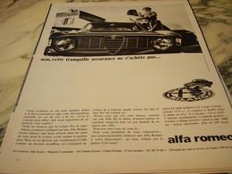 ANCIENNE PUBLICITE VOITURE   ALFA ROMEO GIULIA 1600 SPRINT GT 1966 - Voitures