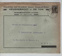 PR6320/ TP 401 S/L.Entête Heughebaert & De Vos Meirelbeke-Station C .Merelbeke 1935 V.Gent - Belgium