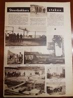 Steenbakkers Staken Steenbakkerij Niel Rumpst Boom Terhagen Hemiksem Kontich :1 Blz Uit Oud Tijdschrift: Ons Land 1935 - Boom
