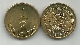 Peru 1/2 Sol De Oro 1976. High Grade - Pérou