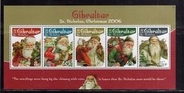 GIBRALTAR GIBILTERRA 2006 CHRISTMAS SANTA CLAUS BABBO NATALE PAPA NOEL BLOCK SHEET BLOCCO FOGLIETTO BLOC FEUILLET MNH - Gibilterra