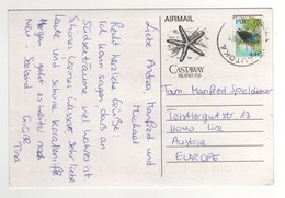 """Timbre , Stamp """" Oiseau """" Sur Cp , Carte , Postcard De 2000 - Fidji (1970-...)"""