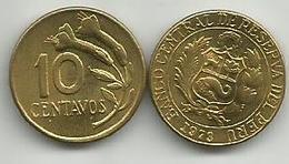 Peru 10 Centavos 1973. High Grade - Pérou