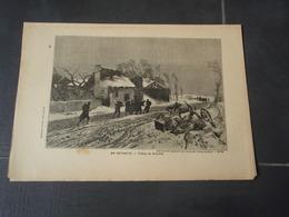 En Retraite. Le Mans   Extrait De L'Histoire Populaire De La Guerre 1870/71  Tableau De KOLITZ - Militaria