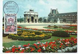 Carte Maximum PARIS Jardin Des Tuileries - Floralies Parisiennes 1959 - 1950-59