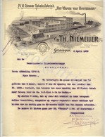 "V/H Th. NIEMEIJER  ""Het Wapen Van ROTTERDAM"" Nv Stoom-Tabaksfabriek  GRONINGEN  8 April 1909 - Nederland"