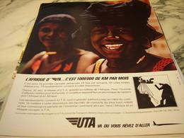 ANCIENNE PUBLICITE AFRIQUE ET   UTA 1966 - Pubblicità
