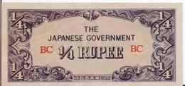 BURMA P. 12a 1/4 R 1942 UNC - Myanmar