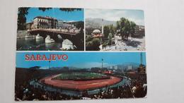 Sarajevo Stadium Postcard Cartolina Stadio Stadion AK Carte Postale CP Stade Estadio - Calcio