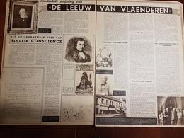 Hendrick Conscience De Leeuw Van Vlaenderen 100 Jaar :2 Blz Uit Oud Tijdschrift: Ons Land 1938 - Informations Générales
